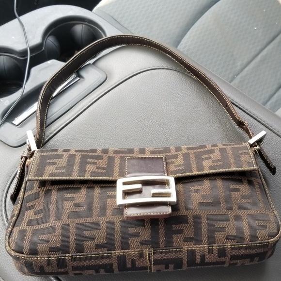 fa8b95640 Fendi Handbags - Fendi Zucca baguette; vintage late 90s; authentic